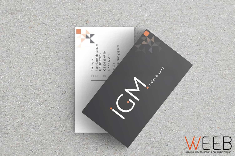 1 Impression Cartes De Visite Design Graphisme Igm