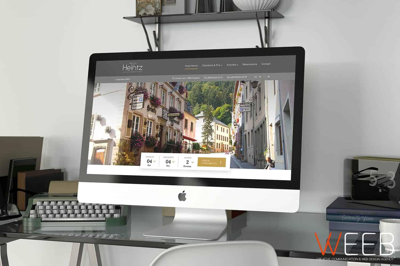 Weeb agency projet h tel heintz for Site reservation hotel en ligne